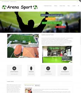 Per Arena Sport è stato realizzato un sito web di presentazione delle strutture sportive e per gestione dei campionati e tornei di calcio a 5 e calcio balilla giocati.