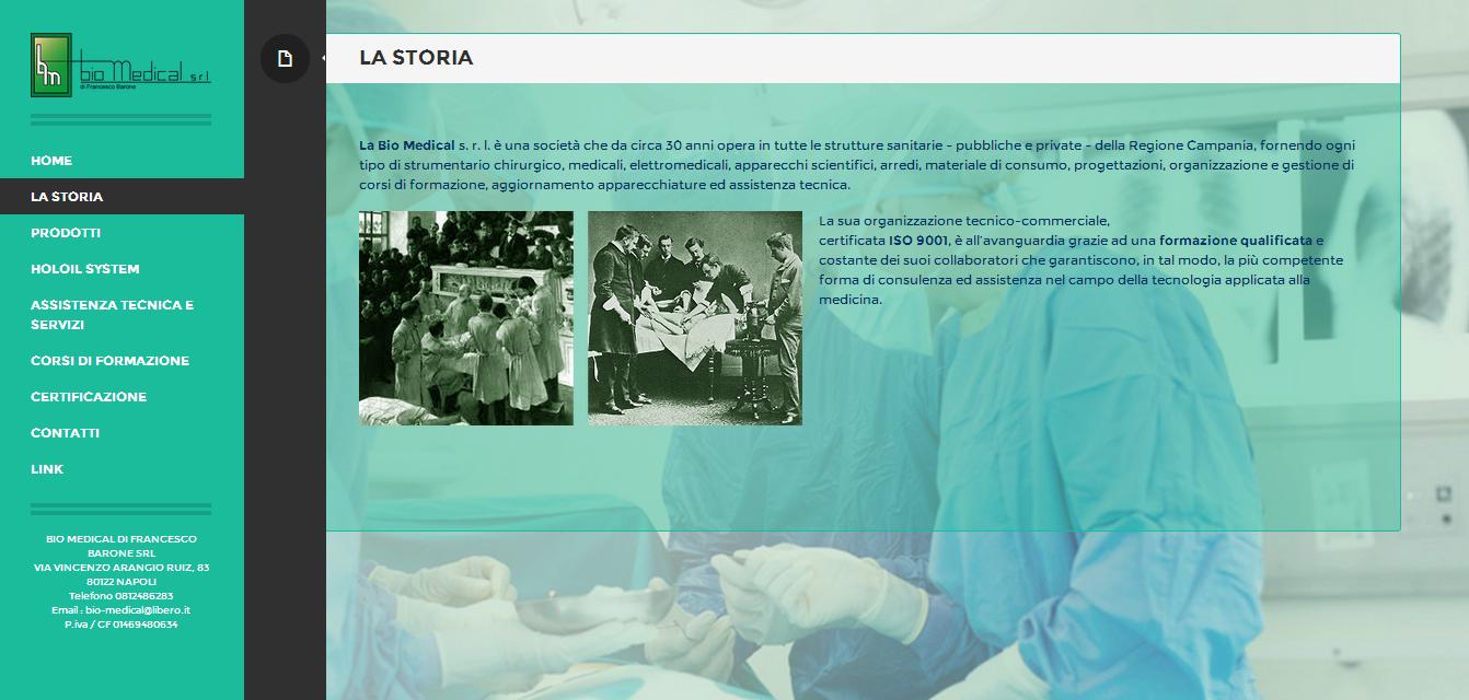sito vetrina realizzato per BIO MEDICAL DI FRANCESCO BARONE SRL