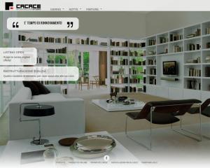 Cacace. Sito vetrina con grafica responsive sia per risoluzioni desktop che per tablet e smartphon.