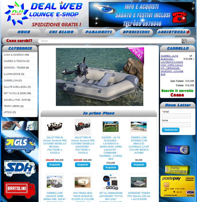 negozio online per la vendita di prodotti per giardino e nautica
