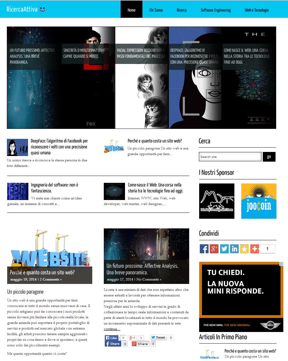 Blog dedicato alla ricerca e alla tecnologia nel mondo informatico e nel web.