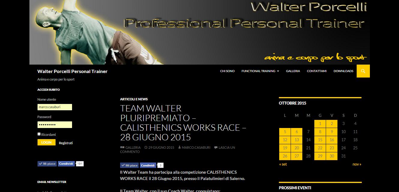 Blog personale del Personal Trainrer Walter Porcelli con ultime notizie, la didattica degli esercizi, un calendario per gli eventi e galleria fotografica.